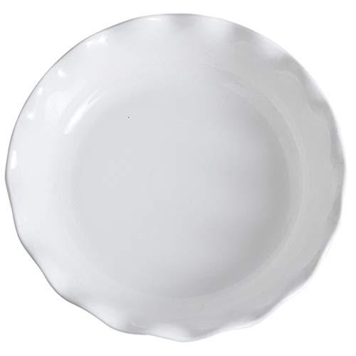 Bandeja para hornear de cerámica binaural, para el hogar, especial para horno, arroz al horno con queso, pasta, horneado, plato bajo vidriado pintado a mano