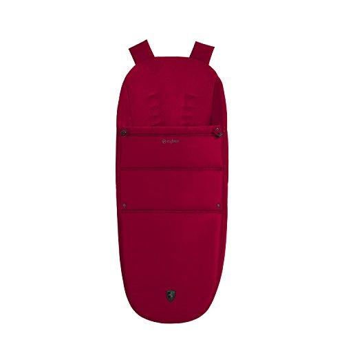 CYBEX Gold Fußsack Scuderia Ferrari, Für Kinder ab Geburt bis 6 Monate (9 kg), Racing Red