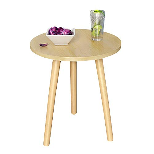 Axdwfd Tafels Coffee Coffee Table, Houten Koffietafel, Sofa bijzettafel met Wood Grain Surface, vloermatten, 50x50x49cm