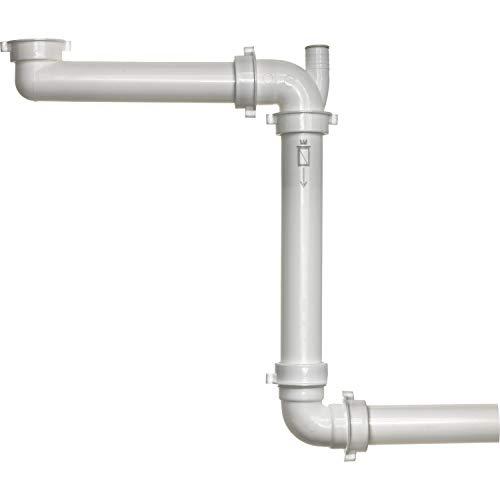 Reginox R27431 Raumspar-Siphon Panama mit Geräteanschluss 40 mm, weiß