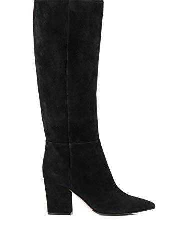 Sergio Rossi Luxury Fashion Femme A85411MCAZ011000 Noir Suède Bottes | Automne-Hiver