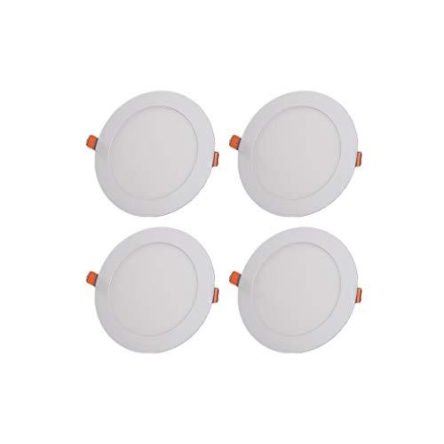 WRMOP Paquete de 4 LED Ultra-Delgado de Techo Downlight Empotrado Panel Cuadrado de luz de la lámpara de Uso doméstico y Comercial de la luminaria R/20/03/04