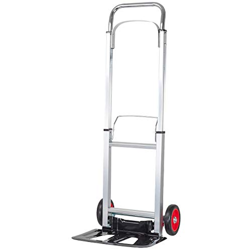 WALTER Alu-Sackkarre klappbar, Transportkarre, mit Vollgummireifen, Tragkraft 90 kg