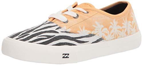 Billabong Women's Seascape Daze Printed Canvas Shoe Sneaker, Zebra, 9 M US
