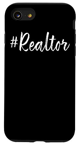 iPhone SE (2020) / 7 / 8 Hashtag Realtor Real Estate Agent Business Gifts Funny Quote Case