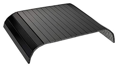 Green'n'Modern schwarzes Sofatablett aus Holz Bambus | Holztablett als Auflage Sofaauflage für Sofa und Sitzmöbel | Armlehnentablett Sofamatte (schwarz)