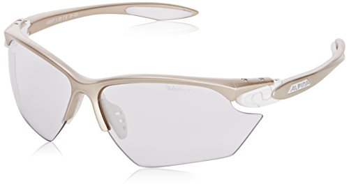 ALPINA Sonnenbrille Performance TWIST FOUR S VL+ Outdoorsport-brille, Prosecco/White, One Size