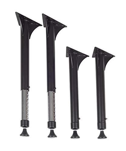 Regency Kee Adjustable Leg, black & Chrome (Set of 4), 23'-35'