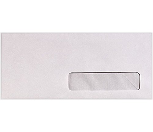 #10 Right Side Window Envelopes (4 1/8 x 9 1/2) - 24lb. Bright White (500 Qty.)   Perfect for Checks, Invoices, Letterhead, Letters, Statements   82624-500
