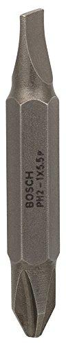 Bosch 2 607 001 738 - Lámina doble de destornillador - S 1,0x5,5; PH2; 45 mm (pack de 1)