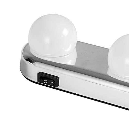 Lovelysunshiny Studio Glow Vanity Make Up Light Super Bright 4 lampadine LED alimentate a batteria (2)