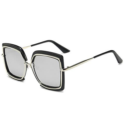 CYPZ Gafas De Sol Para Mujer Gafas De Sol Cuadradas Con Personalidad Gafas De Sol De Sombreado Para Exteriores Negro Marrón Azul
