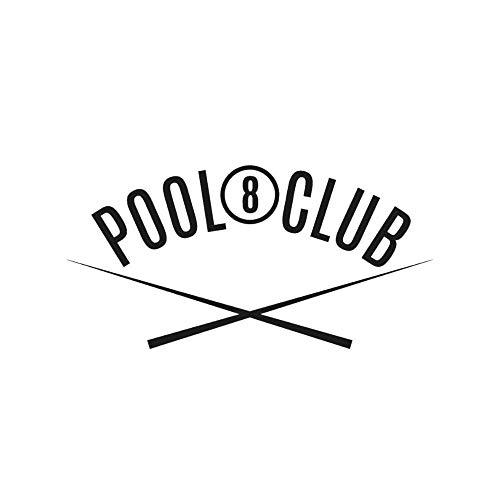 SUPWALS Wandtattoos Pool Eight Club Wandaufkleber Aufkleber Sportaufkleber Billard Pool Wandkunst Dekoration 84X42Cm