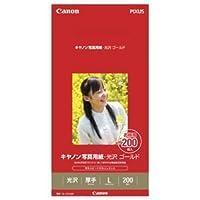 (まとめ) キャノン Canon 写真用紙・光沢 ゴールド 印画紙タイプ GL-101L200 L判 2310B002 1箱(200枚) 【×3セット】