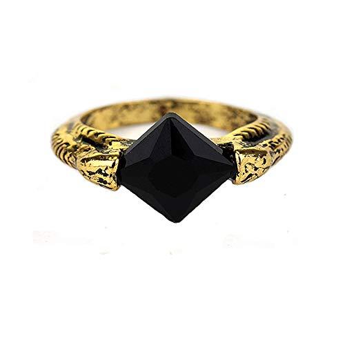 MAIWEIXI Crystal Ring Deathly Hallows Horcrux Ring Resurrection Stone Retro Bronze (Black)
