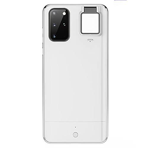 DEMCERT Funda para Samsung Galaxy S21 Ultra, luz de llenado LED para Samsung S20 (Samsung Galaxy S20 Ultra 5G/4G, blanco)