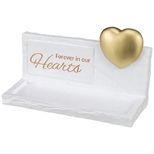 Trixie 38416 Gedenktafel Heart, 20 × 12 × 7 cm, weiß