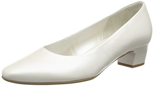 Gabor Damen Basic Pumps, Weiß (60 off-white+Absatz), 41 EU (7.5 UK)