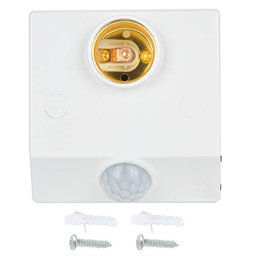 Sensor de infrarrojos Interruptor de movimiento Soporte de luz Interruptor de enchufe E27 Enchufe de sensor de movimiento Vida útil prolongada Precisa para electrodomésticos de bombilla LED