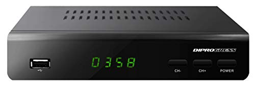 Diprogress DPT203HD DVB-T2 HEVC H265 Decoder con Telecomando Universale 2 in 1