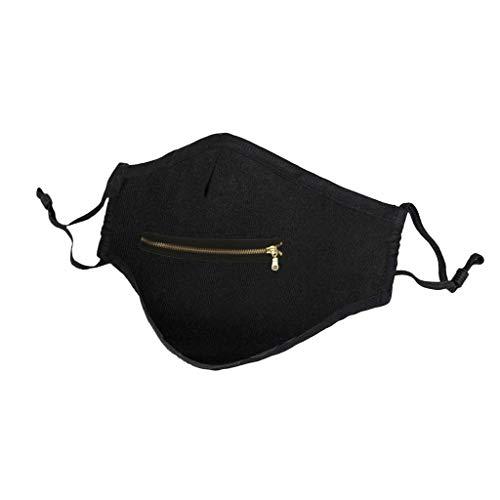 TTWOMEN Herren Damen Multifunktionstuch Biker Bandana Reißverschluss Nahtloses Halstuch Schlauchtuch Schal Kopftuch Stirnband Sonnenschutz Winddichte (B-4, One size)