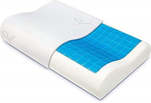 The Winner 2020* Patentiertes Konturenkissen mit Kühlgel – Hypoallergenes Memory-Schaum-Kissen mit CoolGel® – Perfekt für Seitenschläfer/Rücken/Bauchschläfer – Doctor Design/CertiPUR zertifiziert