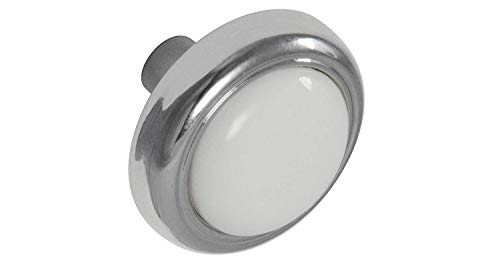 Style Selections Z835-31-PC/CW 1-1/8' Cabinet Knob, White Porcelain/Chrome - 10 Pack