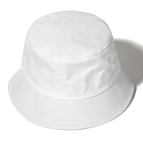 Sombrero de Verano, Sombrero deCubo Reversible para Hombres, Mujeres, Moda de algodón, niños tristes, Sombrero de Sol Plegable para niñas, Sombrero de Pescador de Playa-White