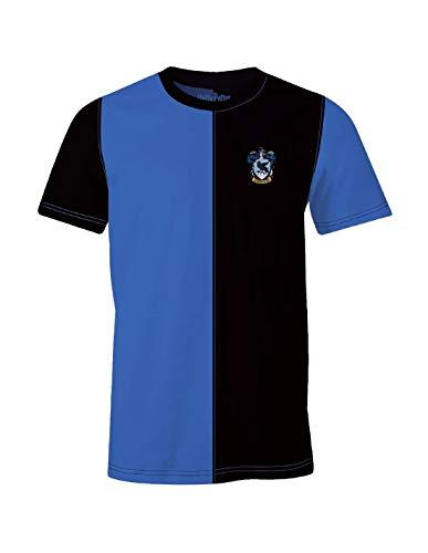 Harry Potter Herren T-Shirt Ravenclaw Tournament Baumwolle blau schwarz - L