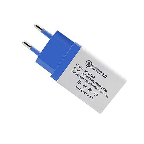 FANMURAN Quick Charge 3.0 Caricabatteria USB Caricatore da Muro per Cellulari Android Blu