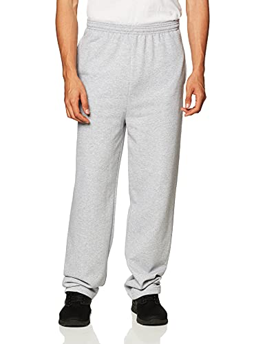 Hanes Men's EcoSmart Open Leg Pant with Pockets, LIGHT STEEL, LARGE