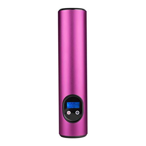 Gazechimp Klein LuftKompressor mobil Kit, Elektrisch Luftpumpe, Reifenpumpe, 12V 150PSI Pumpe mit LCD-Anzeige, Geeignet für Bälle, Fahrrad, Auto - Rosa