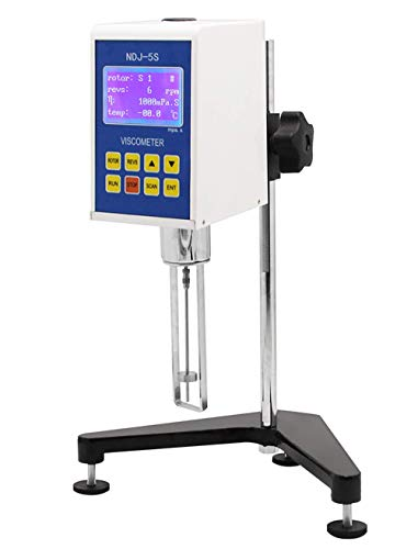 CGOLDENWALL NDJ-5S Digital Rotational Viscosity Meter Viscometer Rotary visometer 110V 10~100,000mPa.s Accuracy:+-3.0% (Without 0# rotor)