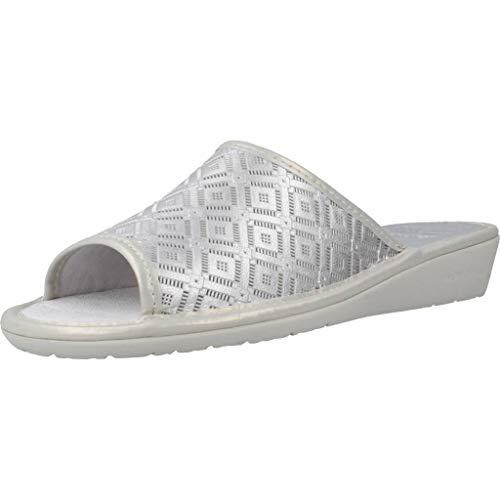 Nordikas Zapatillas Casa Mujer 1503 8 para Mujer Plateado 37 EU