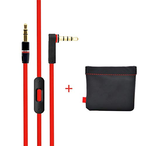 Thrilez 3.5mm Audio Replacement AUX Cable with Mic Compatible with Beats by Dre Headphones Solo/Studio/Pro/Detox/Wireless