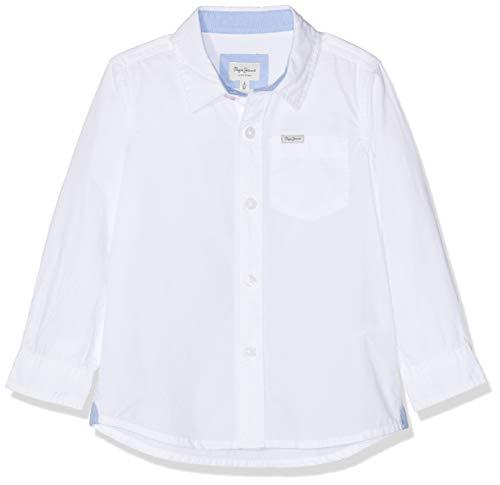 Pepe Jeans Jungen Nate Jr Hemd, Weiß (White 800), 8 Jahre