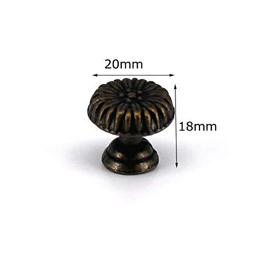 WANDOM 1 x antieke brons kleine kast kast Pulls knoppen Retro Funiture Decor lade dressoir sieradendoos houten doos handvat knop 017