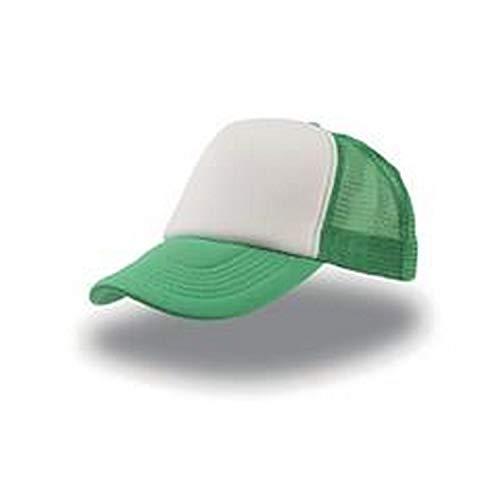 Rapper Atlantis - Gorra visera rejilla trucker cap unisex color Verde oliva - Talla única, cierre ajustable de botones pvc a presión