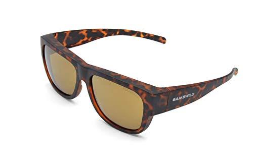 Gamswild WS6032 Überbrille Sonnenbrille Sportbrille Damen Herren Fahrradbrille Unisex | blau | rot-orange | grün, Farbe: Grün