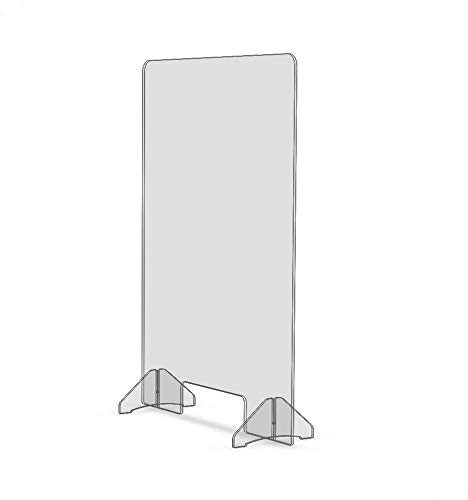 Strivide Desktop Sneeze Guard 24' x 32' - Clear Countertop Germ Barrier for Sales Checkouts and Offices (24' wide x 32' tall)