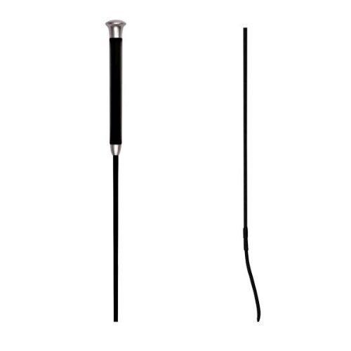 Waldhausen Dressurgerte mit Gelgriff, schwarz, 120 cm, schwarz, 120, 120 cm