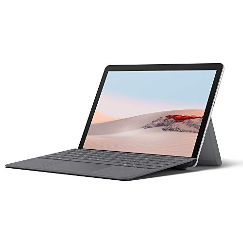 Microsoft Surface Go 2, 10,5 Zoll 2-in-1 Tablet (Intel Core m3, 8 GB RAM, 128 GB SSD, Windows 10 Home S) + Surface Go Signature Type Cover Platin Grau