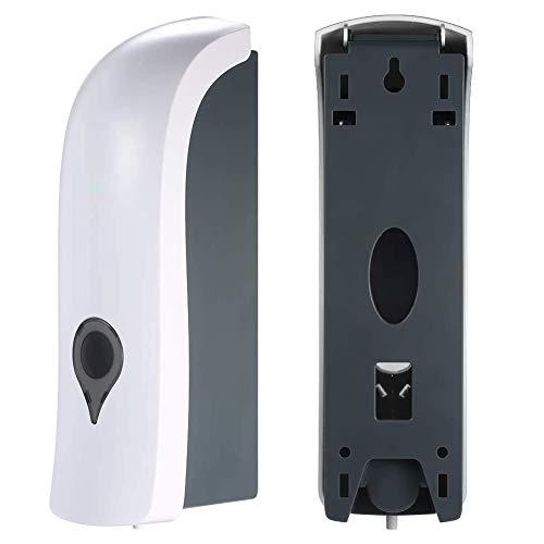 BESLIME Dispensador de Jabón, 300ml Dispensador de Jabón Montado a Pared, Dispensador de jabón líquido manual, Perfecto para utilizar en baños, cocinas, hoteles y restaurantes-- Blanco