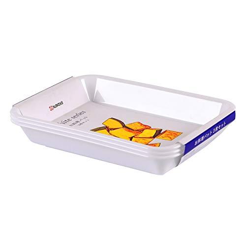 Cocina Cocina Preparación Plato Hogar Hot Pot Albóndigas Frutas y Verduras Ingredientes Bandeja de Almacenamiento de Plato (Blanco 330 ml (3 piezas)