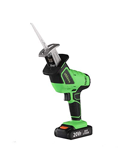 Abizoe Cordless Reciprocating Saw, 20V MAX Reciprocating Saw with Fast Charger ,25MM Stroke Length,Variable Speed Sabre Saw with 4 Saw Blades for Metal & Wood Cutting