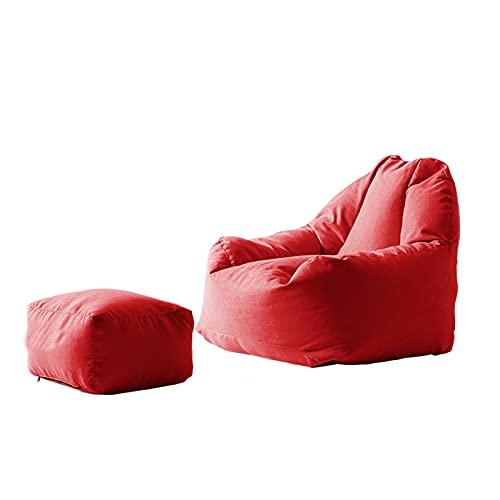 Bean Bag Player Lounge sillón, sofá Perezoso Inflable al Aire Libre, sillón Lavable para Sala de Estar sillón sillón para Dormitorio, sillón Super Suave para decoración del hogar (Color : Big Red)