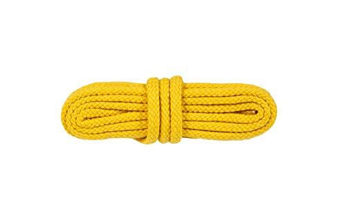 WorkerWalker Runde Schnürsenkel für Sicherheitsschuhe, aus strapazierfähiger Modacryl-Baumwollfasermischung, STR Laces PRO, 1 Paar (16 - Gelb/150 cm - 59 inch)