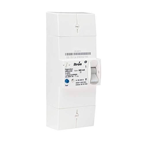 Itron 400017 Conexión de interruptor FED tipo 2P - 30-60A - 500mA - Instant - SDB II 500 60A
