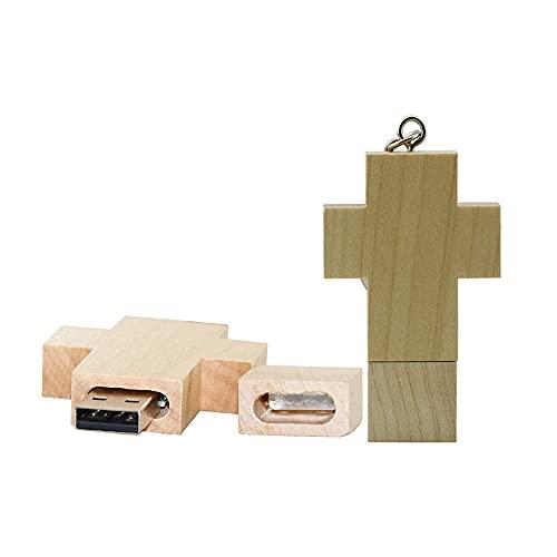 32GB Chiavetta USB a croce in legno Chiavette USB Chiavetta USB Thumb USB Chiavetta USB Chiavetta USB 2.0 Data archiviazione Zip Drive Drive PenDrive Memoria esterna (bianca)