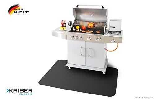 Kaiser PLASTIC® grillmat | onderlegger | zwart | made-in-Germany | verschillende maten | van polycarbonaat 90 x 120 cm zwart